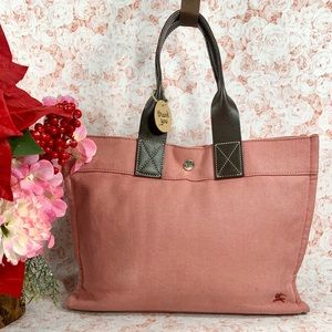 Authentic Burberry Canvas Small Tote